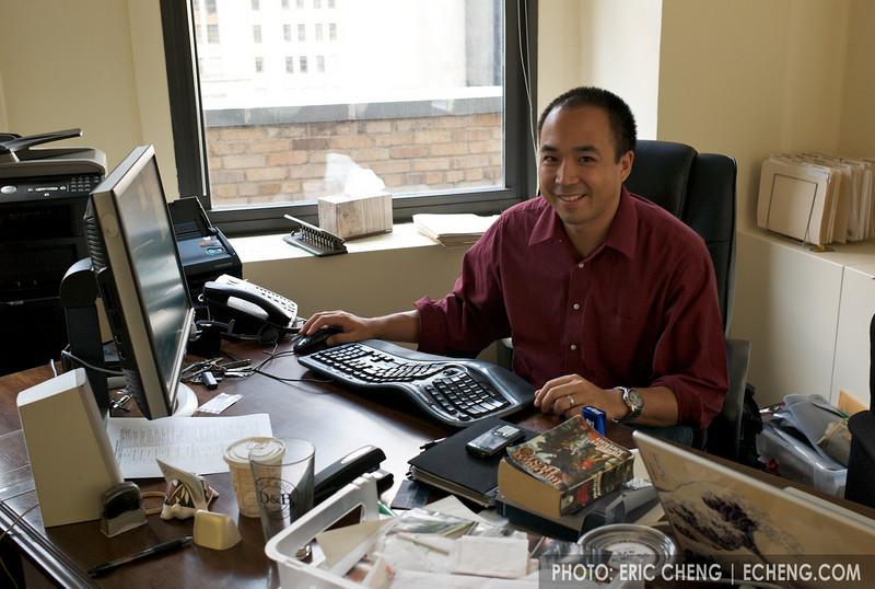 Tony at his office