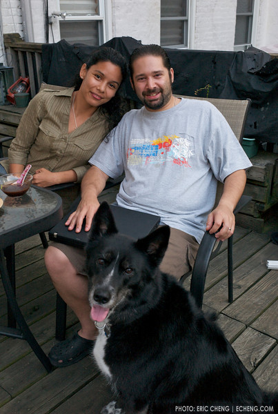 Jason and Wendy Heller, with Luna