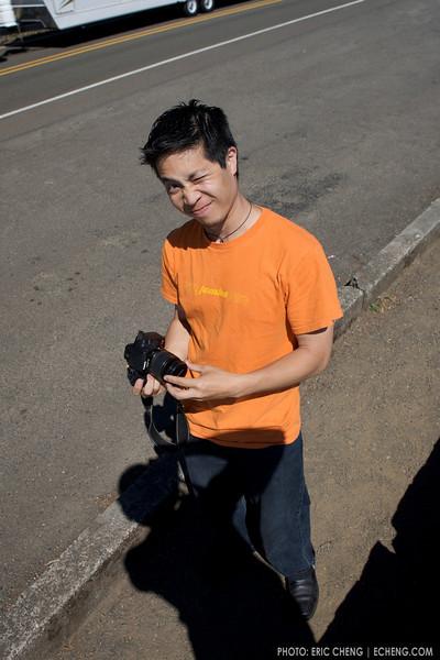 Kenny Liu, at a rest stop