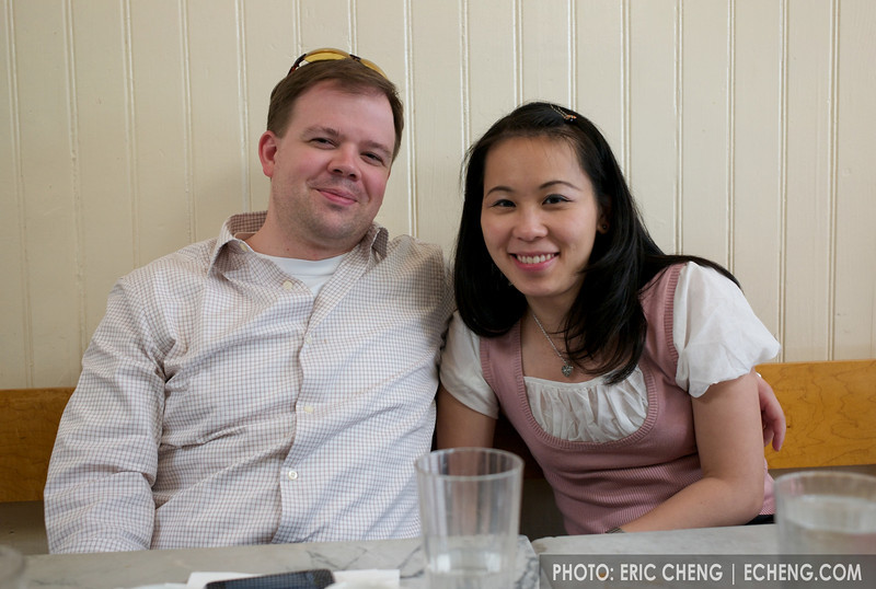 Aaron and Natalie at Universal Cafe, Portrero Hill