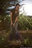 Mandy works a fancy hose attachment