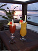 Tropical drinks in the South Pacific (this is a Julie photo for sure!)