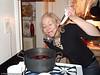 Sally checking the potency of her homemade glogg!