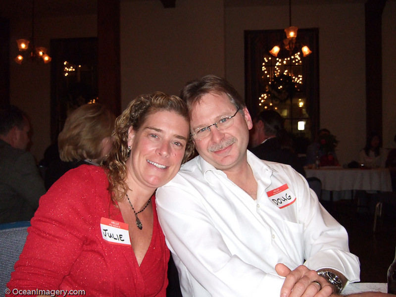 Julie and I at my company Christmas party.