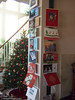 Our wall of Christmas cards.