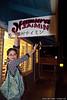 Pam, with the Hamura Saimin sign