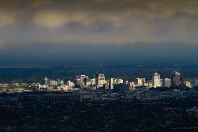Christchurch CBD under a cloud