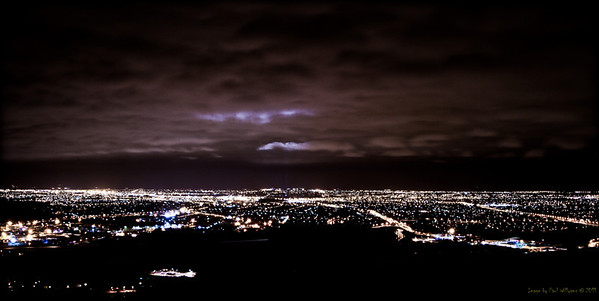 Christchurch at night from Mount Pleasant