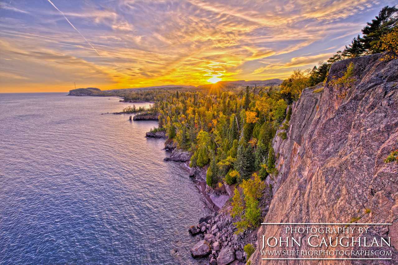 I had to dangle off the cliff to capture this image of Shovel Point at sunset.