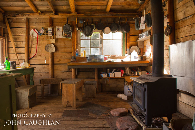 This was inside the old fisherman's cabin. A very basic cabin, but it can prove lifesaving if you need to get off Lake Superior in a hurry. No reservation needed.
