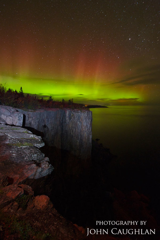 I even was able to catch the northern lights on top of Palisade Head.