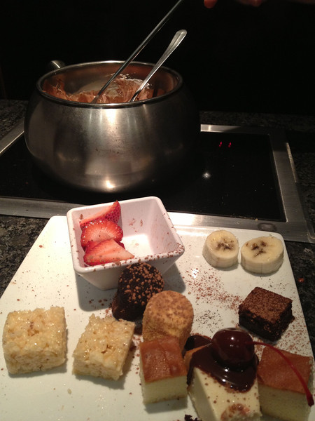 Melting pot s'mores chocolate