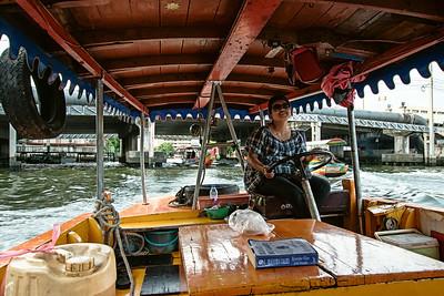 A happy thai woman, taking us around in Bangkok.
