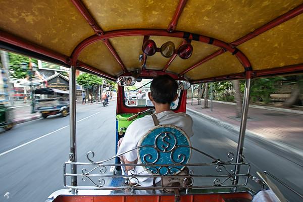 Tuc tuc ride in Bangkok.