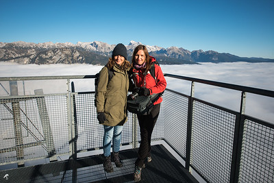 On the top of the world (Vogel mountain) with Ana Pogačar (on the right) in Triglav National Park, Slovenia