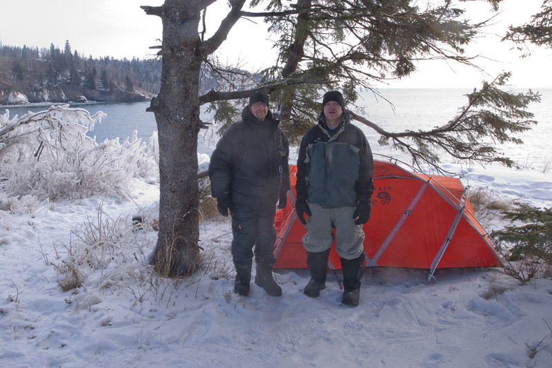 Every winter I go camping with the best man from my wedding. We camped the first night by Lake Superior and woke up the following morning to minus ten below. We built a fire, warmed up, and sipped coffee.