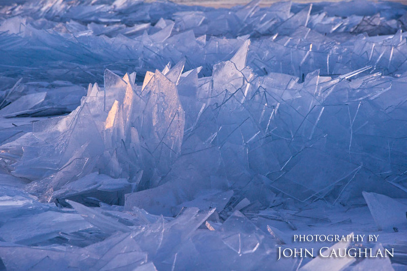 The ice reports on Lake Superior were true. There was ice everywhere. This sheet ice reminded me of broken widows.