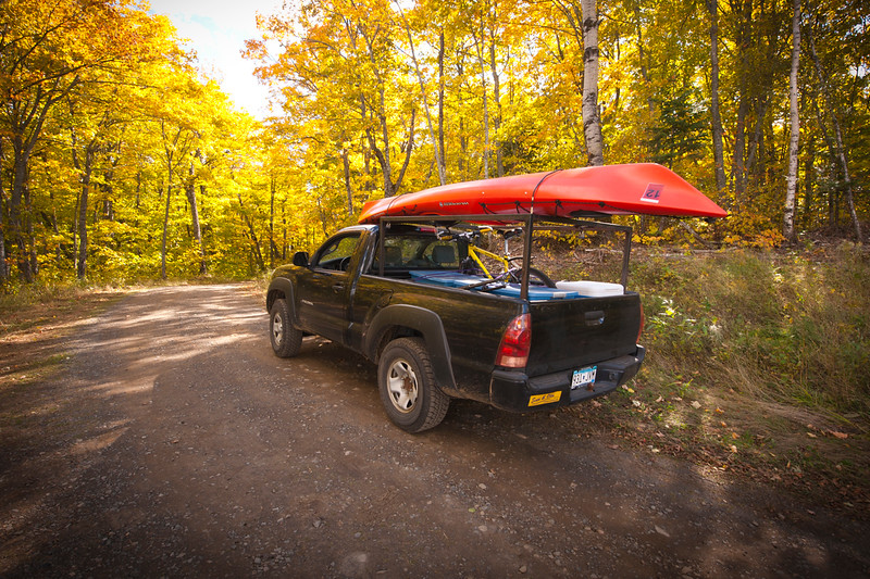 My truck loaded up for the fall colors. Kayak, mt. bike, and camping gear...what else does a photographer need?