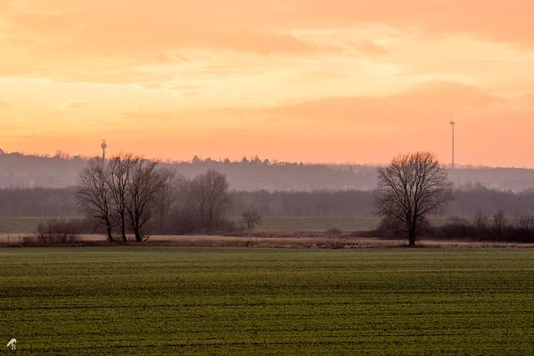 Sunset over Kulcs, Hungary