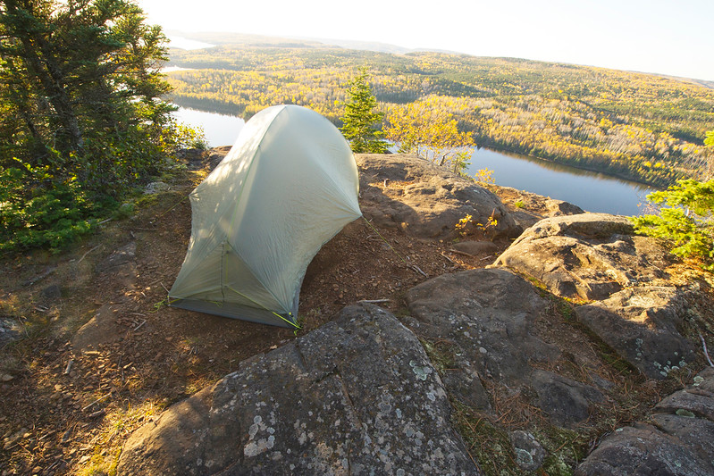 I set up my little single person tent just before sunset. Talk about a room with a view.