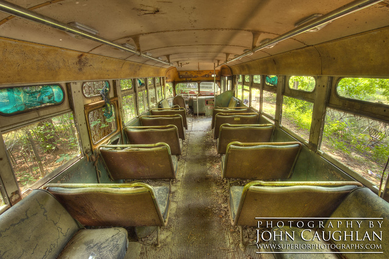 Here is a bus from the 50's. There was a hornet's nest inside the bus making it very challenging to photograph.