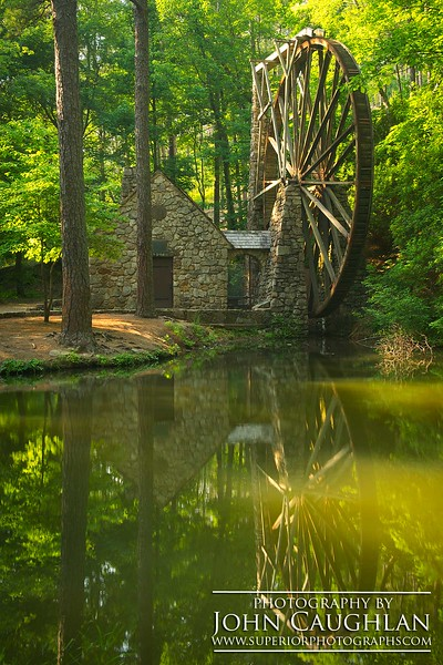 This is the tallest water wheel in the country.