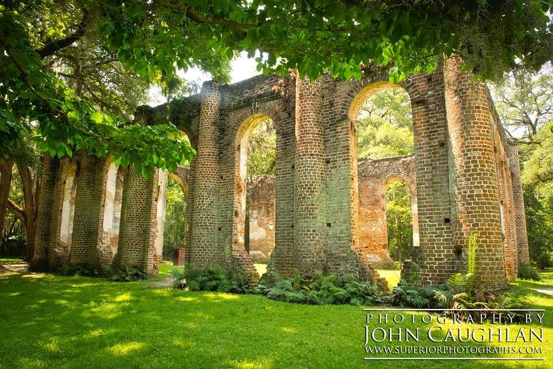 Old church ruins somewhere near Charleston, South Carolina.