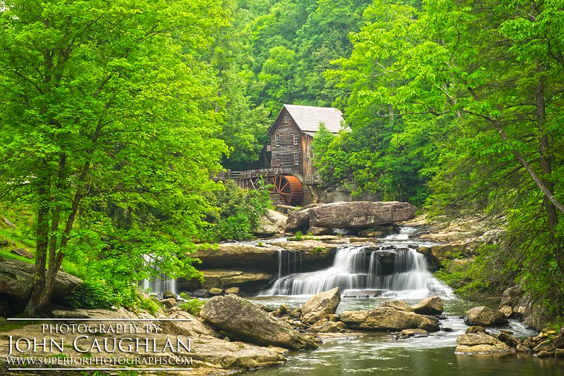 The Glade Creek Mill in Babcock State Park, West Virginia.