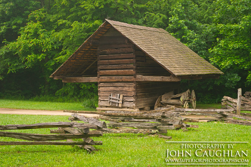 We spent a little time in the Smokey Mountains. We were on the hunt for old barns, old homesteads, old cars, and old mills.
