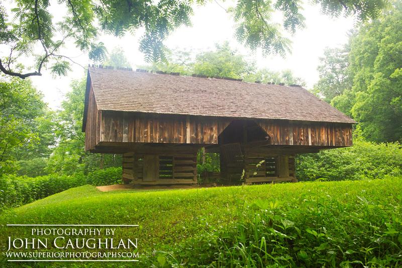 Raised old barn, Cade's Cove (Smokey Mountains).