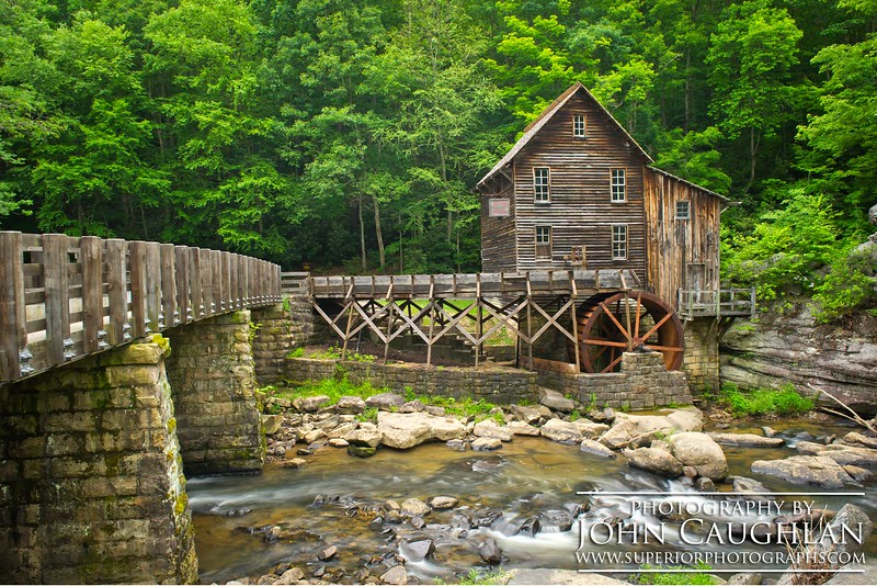 Another image of the Glade Creek Mill.