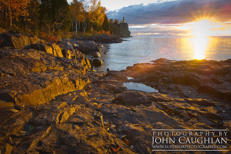 A trip to the North Shore wouldn't be complete without a stop at the Split Rock Lighthouse. The colors were peak and the sunrise was perfect.