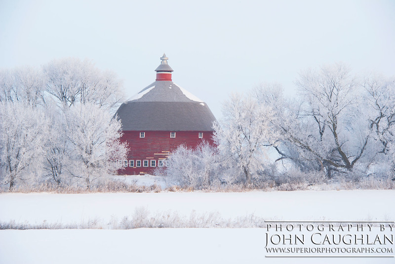 There are fewer and fewer round barns in Minnesota. This gem is located down in Rogers.