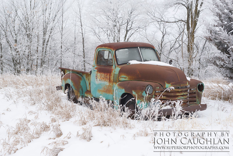 I love finding old abandoned cars and trucks.
