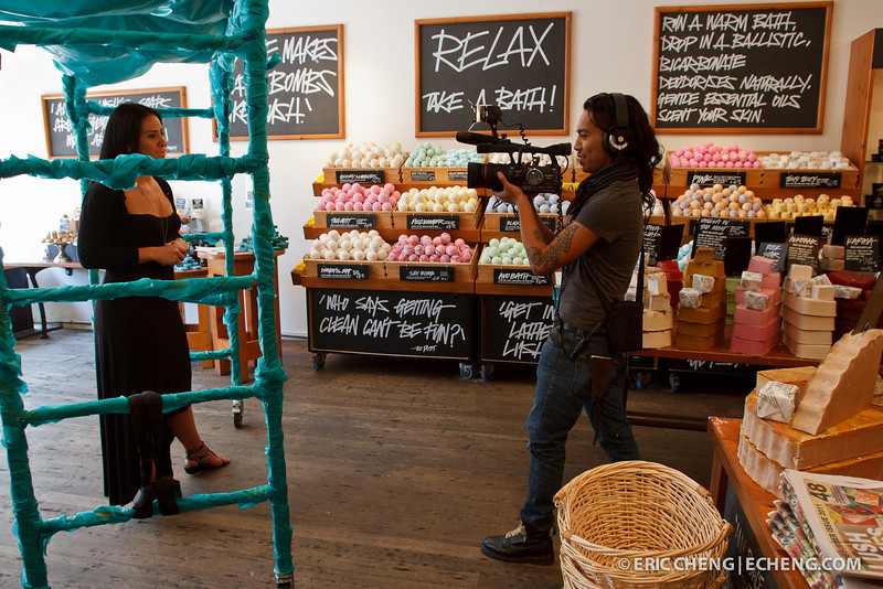 Brandi Hall of LUSH, interviewed on camera