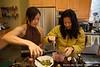 Uyen and Zandra make sangria