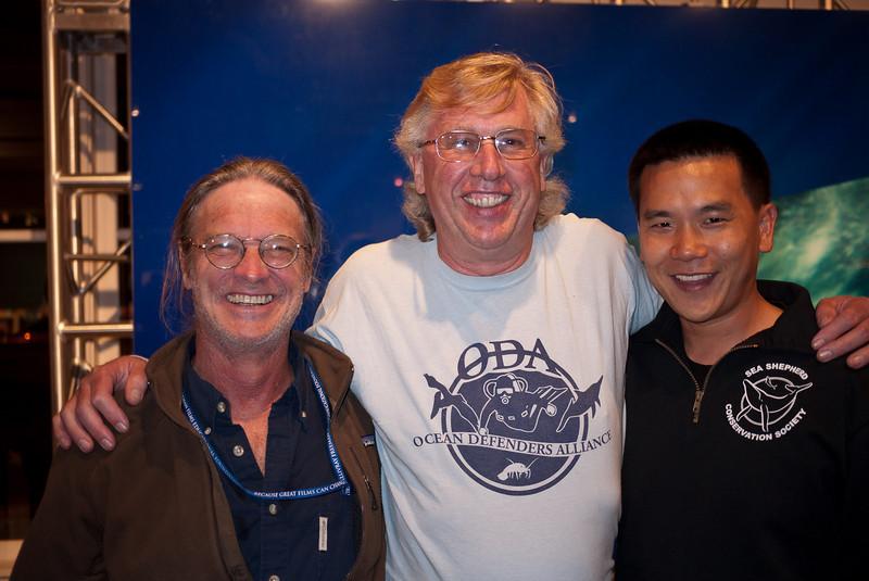 Sea Shepherd's Peter Brown, Kurt Lieber and Eric Cheng