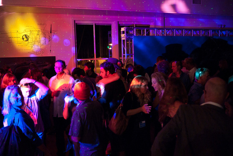 The dance floor at the Maritime Museum party