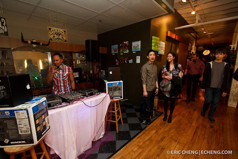 DJ Joseph Lee at Barber Lounge