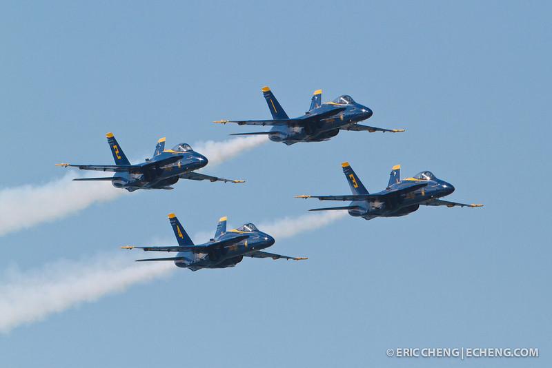 Blue Angels. Fleet Week in San Francisco, CA. October 8, 2011.