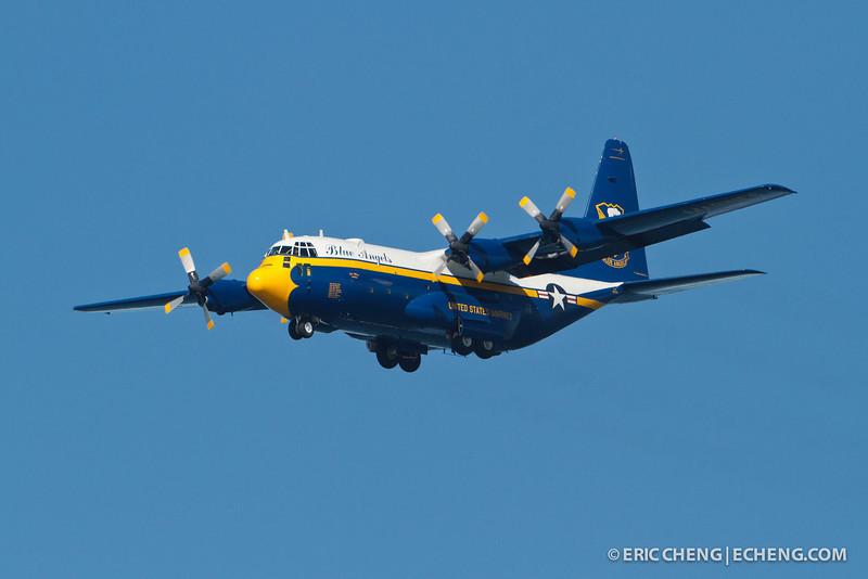 "Blue Angels ""Fat Albert"" C-130 Hercules. Fleet Week in San Francisco, CA. October 8, 2011."