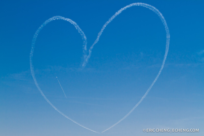 Heart contrail. Fleet Week in San Francisco, CA. October 8, 2011.
