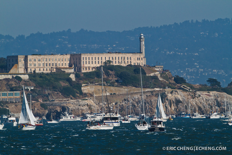 Alcatraz Island. Fleet Week in San Francisco, CA. October 8, 2011.