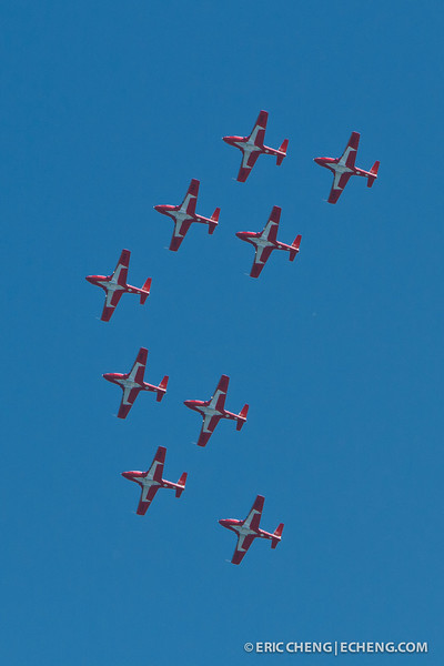 The Canadian Snowbirds. Fleet Week in San Francisco, CA. October 8, 2011.