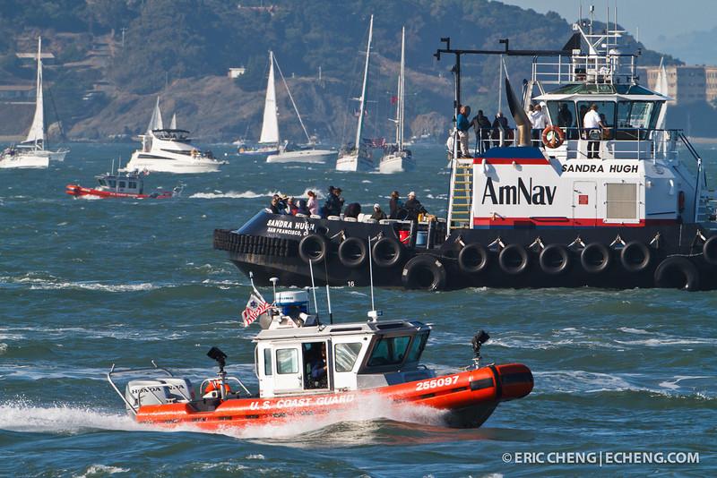 U.S. Coast Guard and the Sandra Hugh. Fleet Week in San Francisco, CA. October 8, 2011.