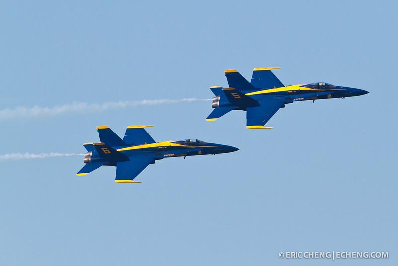 Blue Angels 5 and 6. Fleet Week in San Francisco, CA. October 8, 2011.