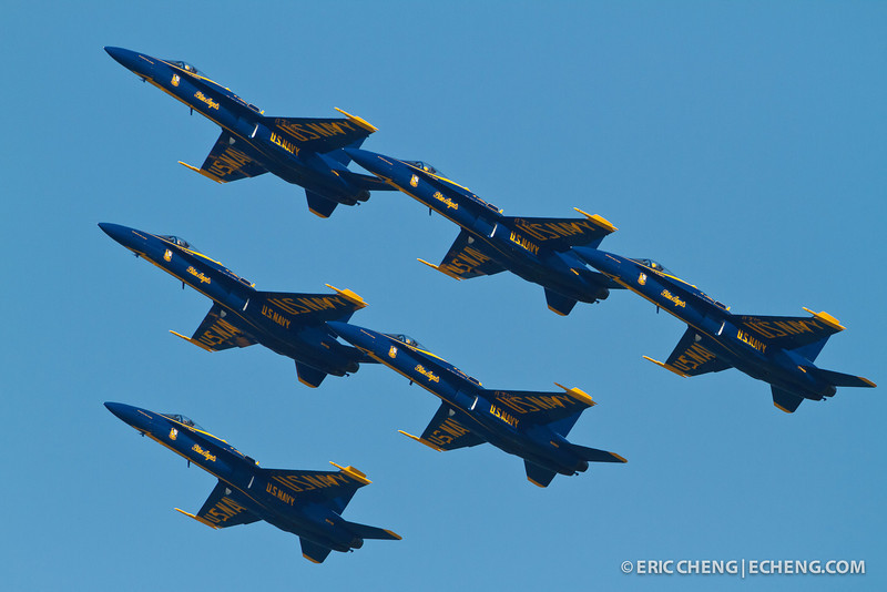 Blue Angels. Fleet Week in San Francisco, CA. October 8, 2011.