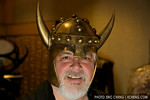Paul Watson in a viking helmet