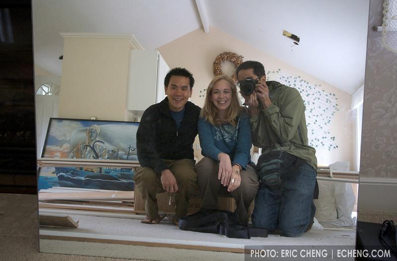 Me, Kim, and Adam at the site of the Sea Shepherd headquarters (photo: Adam Lau)