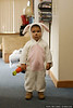 Jack, dressed up as a bunny on Halloween